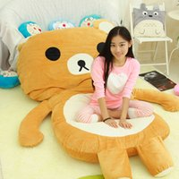 Wholesale a relaxed bear cartoon sleeping pad mattress mats beanbag tatami cartoon bed