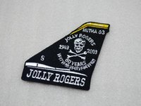 anniversary cross stitch - US Navy Air Pirate Flag Skull Jolly Rogers Squadron th Anniversary badge fin
