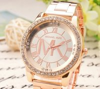 tungsten bracelet - new Fashion Women s Bracelet Stainless Steel Crystal Dial Analog Quartz Wrist Watch Gold color Rose Gold color Silver
