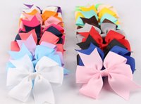 Wholesale 2015 High Quality Grosgrain Ribbon Bows For Hair Chic Hair Bows Children Hair Accessories Baby Girl Hair Bows Flower DIY Headwear