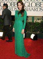 angelina jolie - Shining Long Sequined Green Prom Dresses Angelina Jolie Red Carpet Charming A Line Full Sleeve Celebrity Dresses Evening Dresses CDAJ02