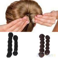 Wholesale 2pcs set Fashion Hair Styling Elegant Magic Style Bun Maker Hairstyle Updo DIY Styling Tool AQ