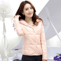 Cheap 2014 new autumn and winter light Hooded Jacket female short paragraph Korean cultivating tide all-match coat