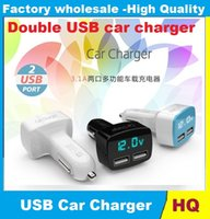 car tester - High Quality V in Car Charger Dual DC5V A USB with Voltage temperature Current Meter Tester Adapter Digital Display