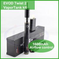 Cheap Evod Twist 2 emow mega kit electronic cigarette 1650mah evod twist 2 Emor vaportank kit e cig vape vaporizer pen DHL free shipping