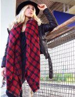 Wholesale New Fashion Cashmere Plaid Square Scarf Winter Warm Wrap Personalized Cotton Scarve Shawl Friendship Gift