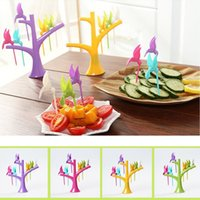 Wholesale 6PCS Multifunction Tree Shape Forks Holder Flying Bird Forkes Home Decor NVIE order lt no track