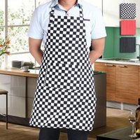 Wholesale Chef Waiter Stripe Bib Apron Kitchen Restaurant Cooking Aprons With Pockets for Men and Women Cooking Tool JE0153 Smileseller