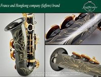 Wholesale EMS France and Hongkong Brand FAFFENV Black nickel saxophone sax E alto saxophone