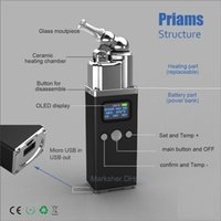best russia - 2016 best herbal vaporizer in Russia Priams ceramic vaporizer with LED dispaly shipping free by Post