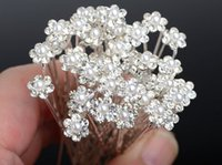 Cheap 40PCS Wedding Accessories Bridal Pearl Hairpins Flower Crystal Rhinestone Hair Pins Clips Bridesmaid Women Hair Jewelry