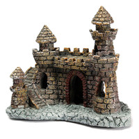 Wholesale Aquarium Castle Ornament Castle Tower Fish Tank House Shrimp Cave Craft Decor Fish Aquatic Supplies