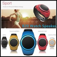 Wholesale SY Portable Mini Watch Speaker Hands free Wireless Bluetooth Receive Call Music Suction Wrist Band Speakers For iPhone