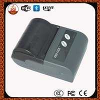 Wholesale Free ship Portable Bluetooth MM Thermal Receipt Printer Support Android IOS