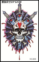 beauty swords - Sword Skull Heart Blood Tattoo Cool Beauty Sexy Tattoo Waterproof Temporary Tattoo Stickers