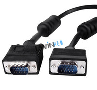 Wholesale 5m SVGA VGA Pin VGA Extension Lead Cable Male to Male for Monitors Projectors