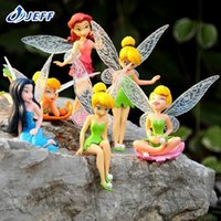 Wholesale Anime Brinquedo PVC set Tinkerbell Fairy Dolls Adorable Mini Tinker Bell Action Figures Children Gift Toys