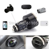 actual car - 200pcs High Quality a Actual Nice V Port Dual USB Universal Mibile Phone Car Charger Adapter