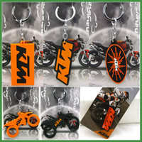Wholesale High Quality Orange FOR KTM Motorcycle Racing PVC D Rubber Keyring Keychain Emblem KTM Key Chain Rings