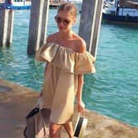 apparel beach shorts - Simplee Apparel Ruffles slash neck women dress Summer style off shoulder sexy dresses vestidos White tube beach dress cotton
