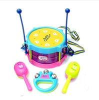 Wholesale New Roll Drum Musical Toy Instruments Band Kit for Kids Children and Baby Gift Set