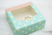 apparel candy - 30pcs Blue Dots Bakery Gift Box Cake Candy Cookie Packing Boxes CH5043004