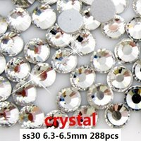 Wholesale 288pcs crystal ss30 mm crystal glass Rhinestone flatback rhinestones silver foiled