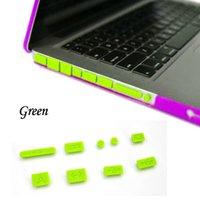 Wholesale 50pcs Silicone Anti Dust Plug USB Data Ports Cover Set for Macbook Pro Laptop Notebook Dustproof Stopper