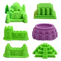 Wholesale Castle Sand Clay Mold Portable Baby Children Kids Educational Mould Toys Building Sights Sandcastle Beach Sand Toys Set