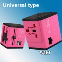 adapter thailand - Universal plug socket adapter international travel WIFI wireless USB charger Japan South Korea Thailand Russia