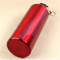 metal water bottle - 2014 summer Outdoor Sports Tourism Travel Aluminum Alloy Water Bottle Metal Clip ml Red