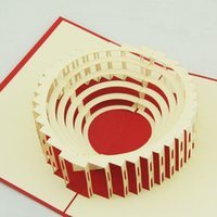 architectural carving - Qubiclife cubic living Colosseum Italian architectural perspective carving handmade paper greeting cards