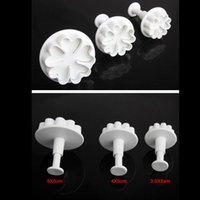 Wholesale Heart Type Petals Cake Cutters Plunger Paste Fondant Sugar Decorating Cookie Mold High Quality