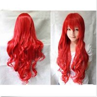 Wholesale Ms red cartoon wig caps long curly women wig fashion fluffy ball head is cm long