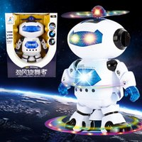 astronaut toy - 360 Rotating Children Electronic Walking Dancing Smart Space Robot Kids Cool Astronaut Model Music Light Toys Christmas Gift New hot