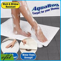 Wholesale Latest Bathroom Aquarug Bath Mat With Suction Cups White Shower Carpet Mats Non slip Silicone Tatami Mat Tapete Infantil Mats
