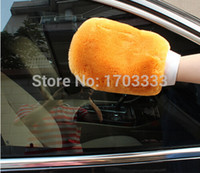 Wholesale 100Pcs Super Soft Car Washing Glove Sheepskin Wash Mitt DHL Fedex