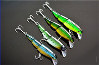 Wholesale High Quality cm g Lifelike Jointed Sections Swimbait Minnow Fishing Lure Multi corlors Floating Lures Hard Bait