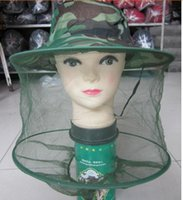 bee protection hat - Insect Bee Mosquito nets hat Resistance Net Mesh Head Face Protector Fish Cap Sun Hat