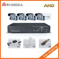 Wholesale 4CH AHD Security Camera Set DVR MP HD CCTV Camera Woshida