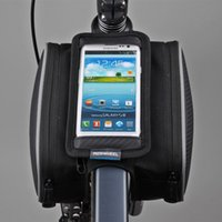 Wholesale NEW Bike Bicycle Front Bag Top Tube Frame Bag Pannier Double Pouch for quot Phone Cycling bag ROSWHEEL