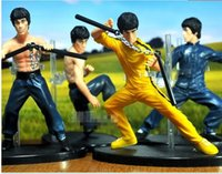 Wholesale 2016 New Piece Size CM PVC Bruce Lee Doll Action Shuangjieao Figure Statue Kung Fu Model Toy Gift WJ024