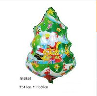 Wholesale 2 styles Santa Claus snowman inflatable helium Foil balloon for Wedding birthday party decorations balloons C838