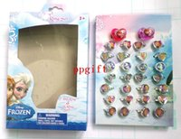 Cheap Free Shhipping Wholesale Lots 120 pc 4 boxes Cartoon Frozen Princess Children Plastic Rings, kid ring - Brand New
