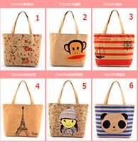 Cheap new designer Canvas cartoon Shoulder Bag cheap Fashion Tote Bags