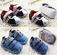 baby home shoes - Blue PU anti shedding can not afford baby toddler shoes Children Silver cotton leisure sports home shoes pair CL