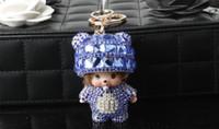 Wholesale hat Qiqi diamond crystal pendant jewelry upscale automobile interior ornaments car keychain