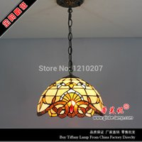 Wholesale 12 inch tiffany pendant lamp with stained glass for bedroom S00312P01 W30CM H80CM handmade crafts tiffany hanging lamp