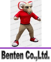 animation colleges - sports animation clothing red RAM mascot costume cosmetic bags game college adult goat and sheep theme LLFA4158F