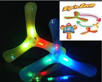 Wholesale Boomerang play with dog with LED outdoor fun sports Luminous Outdoor flying Toys Flying Disk frisbee flying saucer